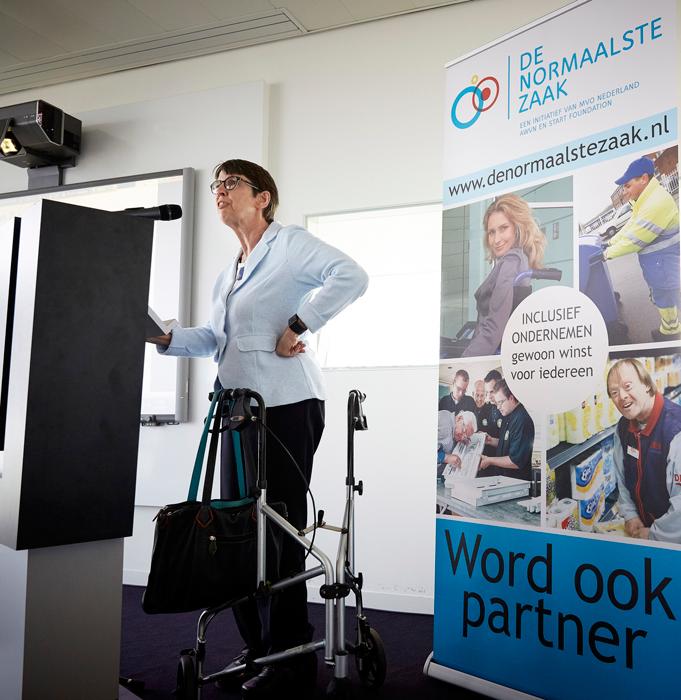 Jetta Klijnsma tijdens de #WerkWeken. Fotograaf: Martijn Beekman
