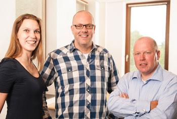 Directeur-eigenaar Marco Albers en zijn team.